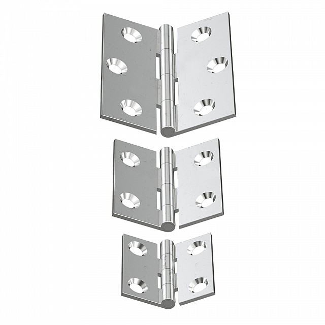NICKEL PLATED BRASS FLAT HINGES